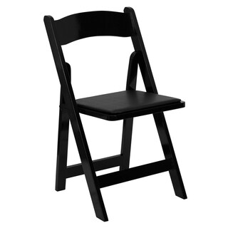 Helicon Black Wood Folding Chairs