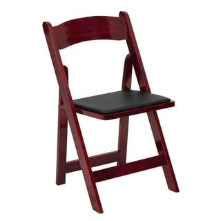 Helicon Mahogany Wood Folding Chairs