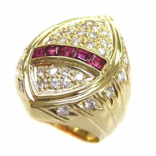 Kabella Luxe 18k Yellow Gold 4/5ct TDW Diamond and Ruby Ring (H-I, I1-I2) (Size 7)