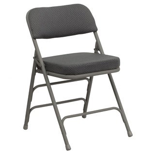 Heather Grey Cushioned Seat Folding Chairs