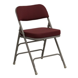 Gentil Heather Burgundy Cushioned Seat Folding Chairs