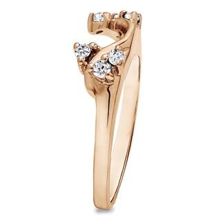 10k Gold 1/8ct TDW Diamond Solitaire Wrap (G-H, I2-I3)