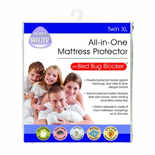 Link to All-In-One Protection with Bed Bug Blocker Twin XL Mattress Protector - White Similar Items in Laundry