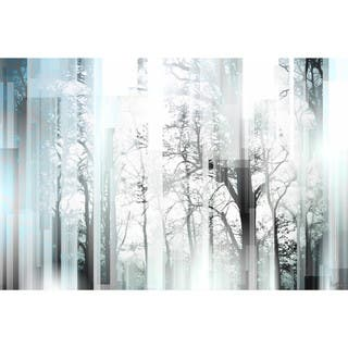 Handmade Wild Trees Print on Wrapped Canvas