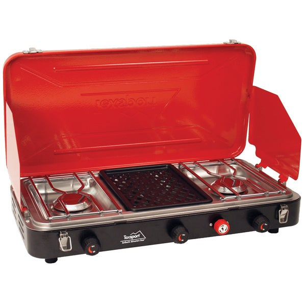 Tex Sport Propane Stove 2-Burner with Grill