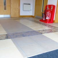 "Floortex Long & Strong Hallway Runner | for Hard Floors | Clear PVC Floor Protector Roll Mat | Size 48"" x 12ft"