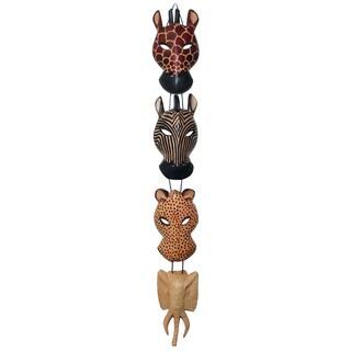 Animal Wood Wall Hanging , Handmade in Kenya
