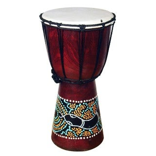 Handmade Jembe Drum with a Paint Dropper (Indonesia)