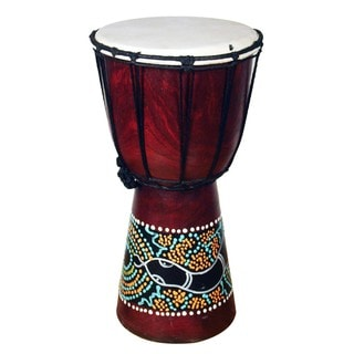Handmade Jembe Drum with a Paint Dropper Design (Indonesia)