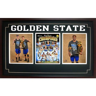 Three Photo Frame - 2015 NBA Champions Golden St. Warriors