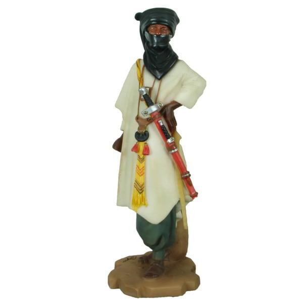 Handmade Tuareg Warrior Polyresin Figurine