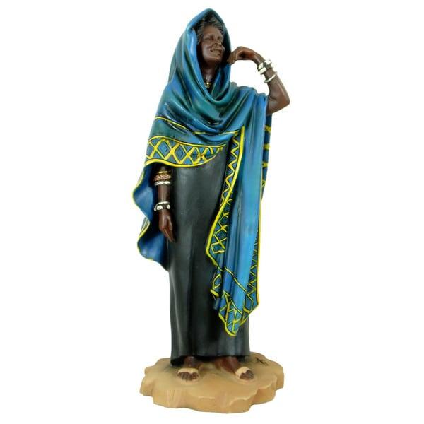 Handmade Tuareg Woman Polyresin Figurine