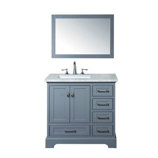 Stufurhome Grey 36-inch Single Sink Bathroom Vanity Set