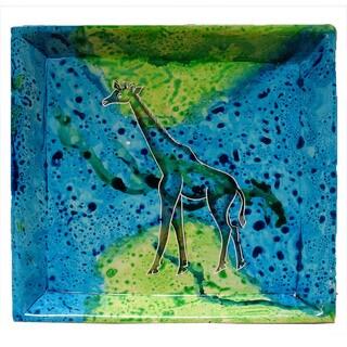 Handmade Bahari Giraffe Stone Square Tray (Kenya)