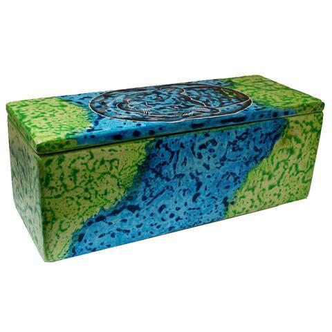 Handmade Bahari Tiger Soapstone Pencil Box (Kenya)