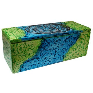 Handmade Bahari Tiger Soapstone Pencil Box (Kenya)