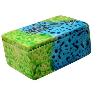 Handmade Bahari Giraffe Soapstone Trinket Pin Box (Kenya)