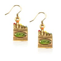 Gold over Silver Crayons Charm Earrings