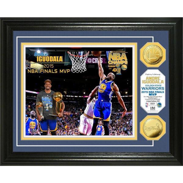 """Golden State Warriors 2015 NBA Finals """"MVP"""" Gold Coin Photo Mint"""