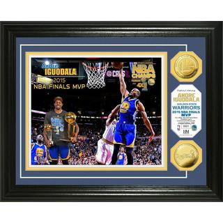 "Golden State Warriors 2015 NBA Finals ""MVP"" Gold Coin Photo Mint"