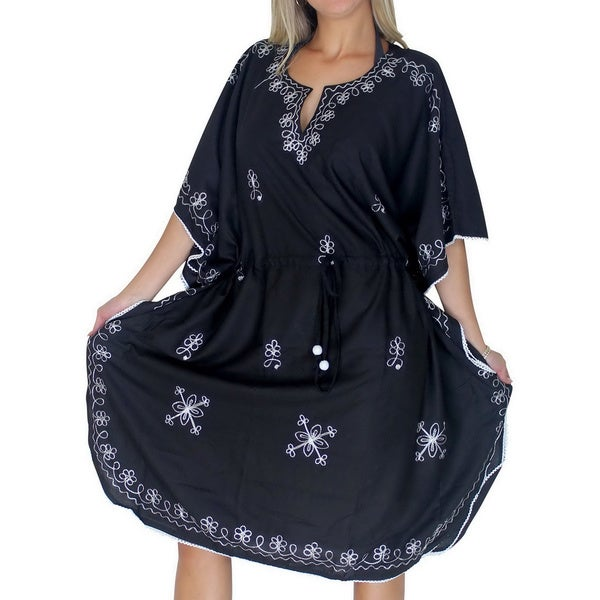 a5da8c53169d2 La Leela Beachwear Dresses Tunic Top Kaftan Swimsuit Cover up Resort Bikini  Kimono M-4X