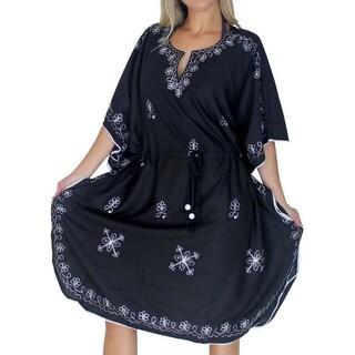 La Leela Beachwear Dresses Tunic Top Kaftan Swimsuit Cover up Resort Bikini Kimono M-4X