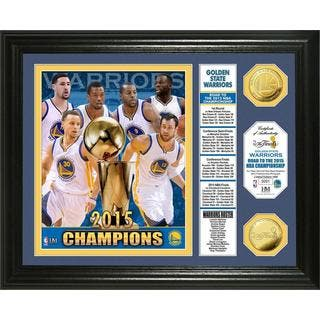 """Golden State Warriors 2015 NBA Finals Champions """"Banner"""" Gold Coin Photo Mint