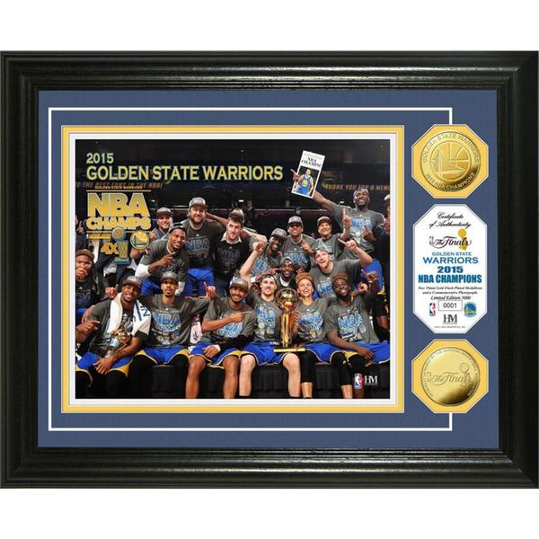 "Golden State Warriors 2015 NBA Finals Champions ""Celebration"" Gold Coin Photo Mint"