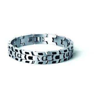 Tonino Lamborghini Impronta Stainless Steel Bracelet