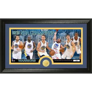 Golden State Warriors 2015 NBA Finals Champions Panoramic Minted Coin Photo Mint