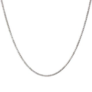 Sterling Silver Italian 24 Inch Twisted Margherita Chain Necklace