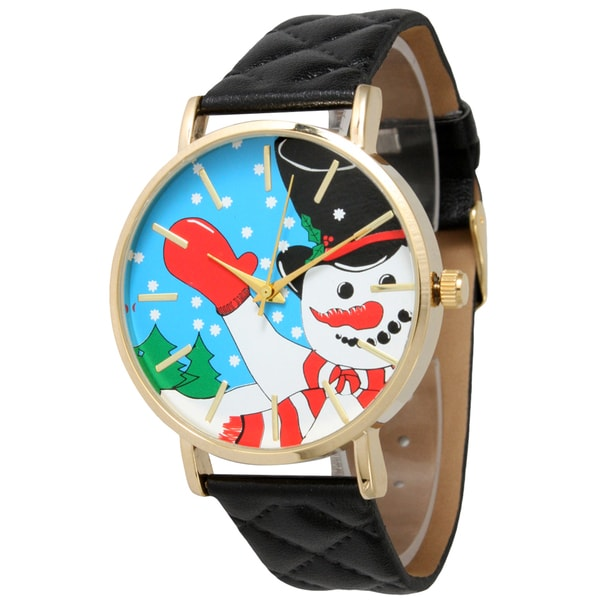 Olivia Pratt Women's Quilted Band Holiday Watch