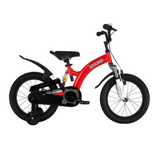 Royalbaby Flying Bear Full Suspension Kids Bike Perfect Gift for Kids, Boys Bike, Girls Bike, Sport Bike, 14 Inch Wheels, Yellow