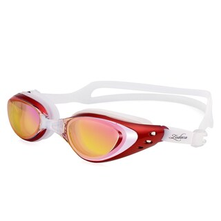 Zodaca Water Sports Exercise Anti UV Non-Fogging Swimming Goggles Glasses for Adult (Option: Red)