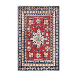 Herat Oriental Afghan Hand-knotted Tribal Vegetable Dye Kazak Wool Rug (2'3 x 3'5)