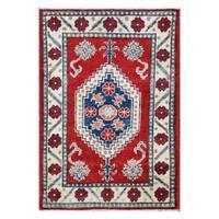 Handmade Herat Oriental Afghan Tribal Vegetable Dye Kazak Wool Rug (Afghanistan) - 2'3 x 3'4