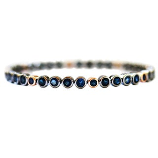 Sapphire Bangle in Sterling Silver and Rose Gold