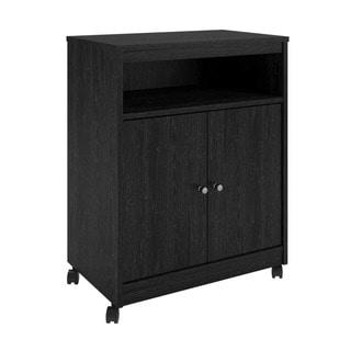 Altra Landry Black Ebony Ash Microwave Cart