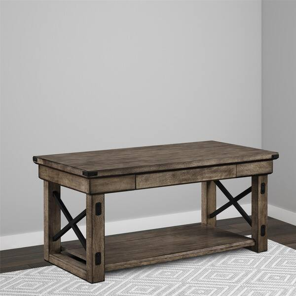Shop Avenue Greene Woodgate Rustic Grey Wood Veneer Coffee Table