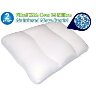 As Seen On TV Air Infused Micro Bead Cloud Pillow