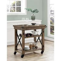 The Gray Barn Riverro Rolling Kitchen Cart