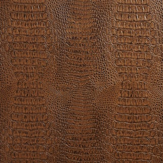 G036 Brown, Crocodile Faux Leather Upholstery Vinyl