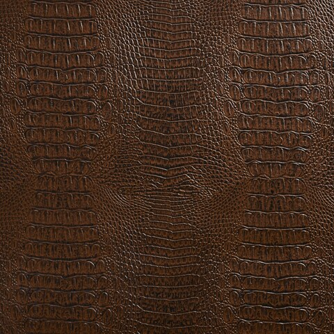 G033 Brown, Crocodile Faux Leather Upholstery Vinyl