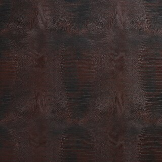G012 Burgundy Red, Textured Alligator Faux Leather Upholstery Vinyl