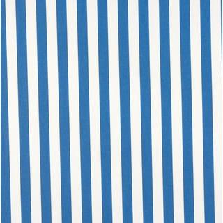 B485 Blue Striped Indoor Outdoor Marine Scotchgard Upholstery Fabric