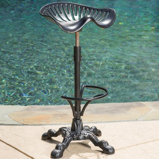 Tofolli Swivel Adjustable Cast Aluminum Barstool by Christopher Knight Home