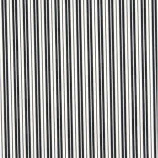 B467 Black Ticking Striped Outdoor Marine Upholstery Fabric