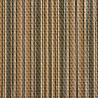 A353 Teal and Beige Matelasse Quilted Striped Upholstery Fabric