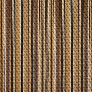 Brown and Beige Matelasse Quilted Striped Upholstery Fabric