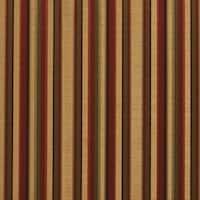 B0230b Burgundy Gold Green Shiny Striped Silk Look Upholstery Fabric